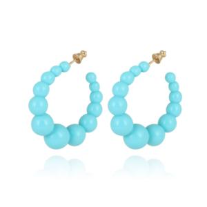 Gas Bijoux - Andy Hoop Earrings Turquoise