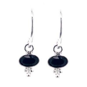 Muja Juma - Earrings Black Agate Gipsy 1366SB0
