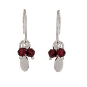 Muja Juma - Earrings Garnet Beads 1346SB8