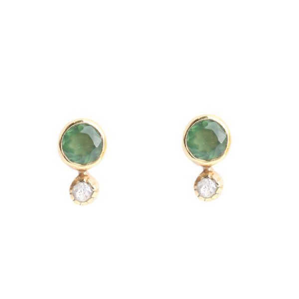 Muja Juma - Earrings Labradorite Peach Moonstone 1007GB5