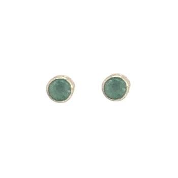 Muja Juma - Earrings Mini Etnic Nefrite 1204GB7