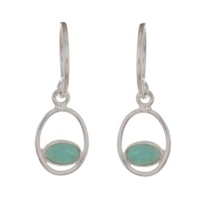 Muja Juma - Earrings Oval Amazonite 1353SB5