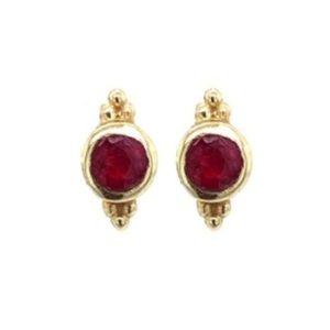 Muja Juma - Earrings Ruby 1010GB14