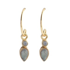 Muja Juma - Earrings White Moonstone Labradorite 1023GB2