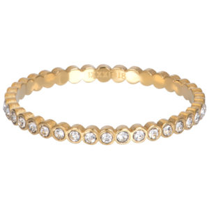 Ixxxi - Small Circle Stone Gold R05804