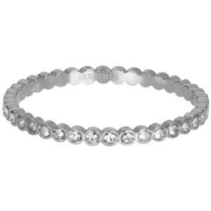 Ixxxi - Small Circle Stone Silver R05804