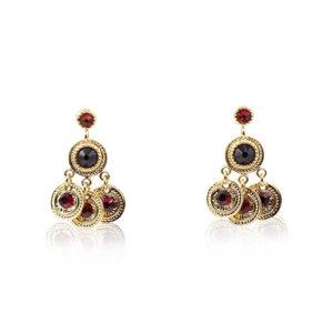 Gas Bijoux - Arlequin Dark Red Earrings