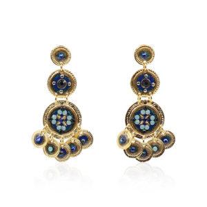 Gas Bijoux - Sequin Blue Earrings