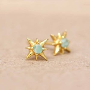 Muja Juma - Ear Studs Amazonite 1411GB5