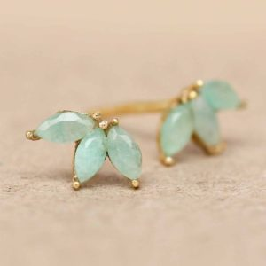 Muja Juma - Ear Studs Amazonite 1465GB5