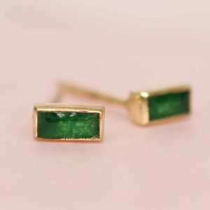 Muja Juma - Ear Studs Green Zed 1471GB15