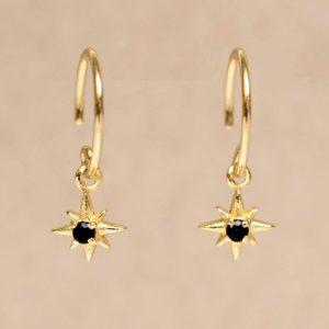 Muja Juma - Earrings Black Agate 1457GB0