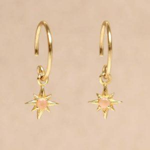 Muja Juma - Earrings Peach Moonstone 1457GB4