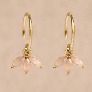 Muja Juma - Earrings Peach Moonstone 1498GB4