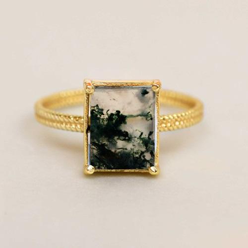 Muja Juma - Ring Mos Agate 4181GB15