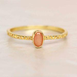 Muja Juma - Ring Peach Moonstone 4155GB4