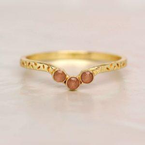Muja Juma - Ring Peach Moonstone 4156GB4