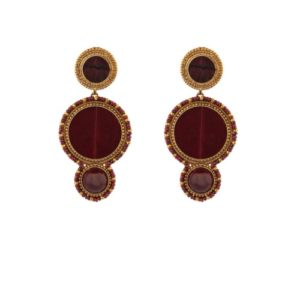 Satellite Paris - Claudia Earrings Dark Red CLA11TPPV