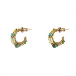 Satellite Paris - Iancura Earrings Green