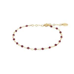 Une a Une - Bracelet Inde Bordeaux BRIBX
