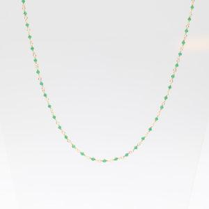 Une a Une - Collier Inde Emerald CIEY