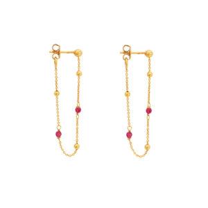 Une a Une - Earrings Framboise BCGY