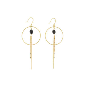 Une a Une - Earrings Onyx BOCCN