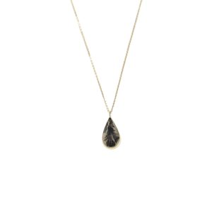 Yilz & Gems - 14kt Golden Pendant Dendritic Agate 2