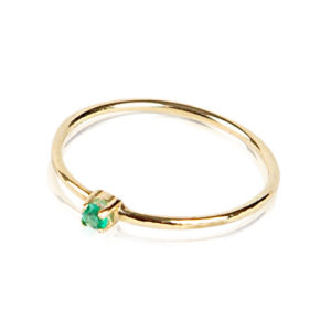 Yilz & Gems - 14kt Golden Ring Emerald p