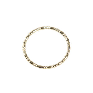 Yilz & Gems - 14kt Golden Ring Irregular