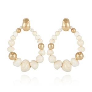 Gas Bijoux - Biba White Earrings