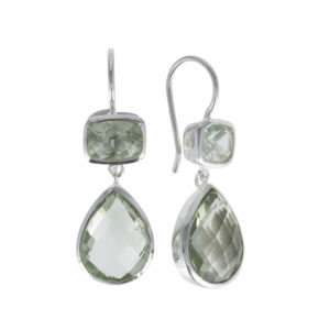 Coby van den Bor - Earrings Green Amethyst 893