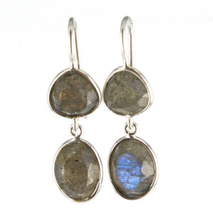 Coby van den Bor - Earrings Labradorite 813