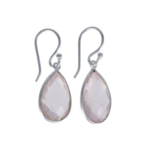 Coby van den Bor - Earrings Rosequartz 615