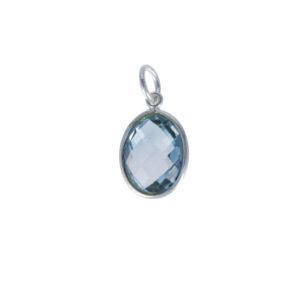 Coby van den Bor - Necklace Pendant Blue Topaz PG10