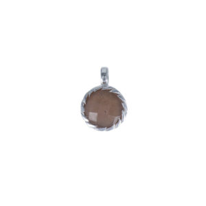 Coby van den Bor - Necklace Pendant Chocolate Moonstone 869