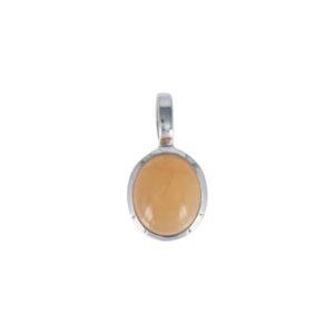 Coby van den Bor - Necklace Pendant Peach Moonstone 387
