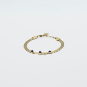 Zag Bijoux - Bracelet 3 Lapis Lazuli