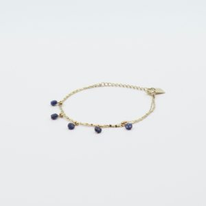 Zag Bijoux - Bracelet 5 Lapis Lazuli