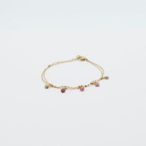 Zag Bijoux - Bracelet 5 Pink Stones