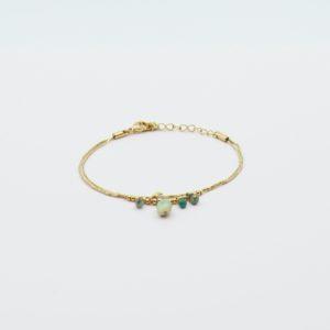 ag Bijoux - Bracelet Green Stones