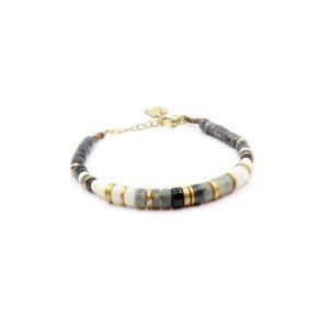 Zag Bijoux - Bracelet Grey White