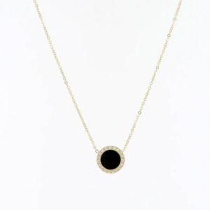Zag Bijoux - Necklace Black Circle cu