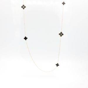 Zag Bijoux - Necklace Long Black Clover 01