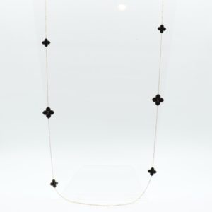 Zag Bijoux - Necklace Long Black Clover