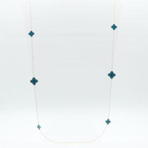 Zag Bijoux - Necklace Long Petrol Clover