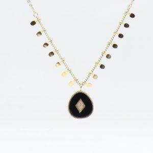 Zag Bijoux - Necklace Onyx cu