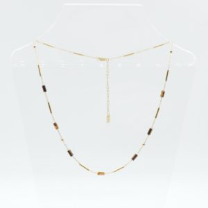 Zag Bijoux - Necklace Tigereye Rolls