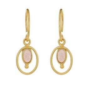 Muja Juma - Earrings Peach Moonstone 1357GB4
