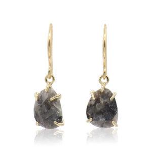 Callysta's Findings - Earrings Dark Grey Labradorite